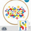 Pause Cross Stitch Kit With Hoop additional 3