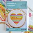 Beginners Heart - Learn How To Cross Stitch Complete Tutorial Kit additional 2