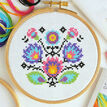 Beginners Folk Flowers - Learn How To Cross Stitch Complete Tutorial Kit additional 5
