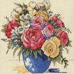 Pastel Floral Vase Cross Stitch Kit additional 1