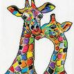 Colourful Giraffes Cross Stitch Kit additional 2