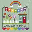 Rainbow Birth Sampler Cross Stitch Kit additional 1