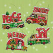 Holiday Truck Ornaments Set Cross Stitch Kit additional 2