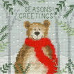 Christmas Moose, Christmas Bear and Christmas Fox Cross Stitch Christmas Card Kits (Set of 3) additional 2