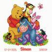 Winnie & Friends Cross Stitch Birth Record Kit additional 1