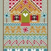 Gingerbread Cottage Cross Stitch Kit additional 1