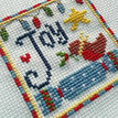 Joy Cross Stitch Christmas Card Kits(set of 4) additional 6