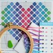 Beginners Spotty Heart - Learn How To Cross Stitch Complete Tutorial Kit additional 3