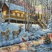 Winter Cabin Cross Stitch Kit additional 1