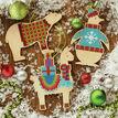 Wooden Animal Ornaments Cross Stitch Kit (set of 3) additional 1
