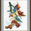 Blue Tits On Branch Cross Stitch Kit additional 2