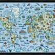 World Map Cross Stitch Kit additional 2