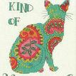 Paisley Cat Cross Stitch Kit additional 1