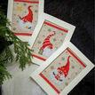 Happy Gnomes Cross Stitch Christmas Card Kits Set Of 3 additional 1