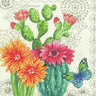 Cactus Blooms Cross Stitch Kit additional 1