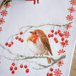 Robin & Berries Cross Stitch Table Runner Kit additional 2