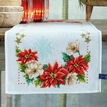 Christmas Flowers Cross Stitch Table Runner Kit additional 1