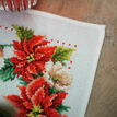 Christmas Flowers Cross Stitch Table Runner Kit additional 3