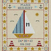 Sail Boat Birth Sampler Cross Stitch Kit additional 1
