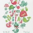 Under The Sea Birth Record Cross Stitch Kit additional 1