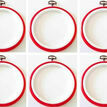 """Stitch Garden Set of 6 Embroidery Flexi Hoops - Red (3"""") additional 1"""