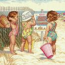 Beach Babies Cross Stitch Kit additional 1