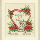 Golden 50th Wedding Anniversary Heart Cross Stitch Kit additional 2