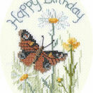 Butterfly And Daisies Greetings Card Cross Stitch Kit additional 1