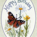 Butterfly And Daisies Greetings Card Cross Stitch Kit additional 2