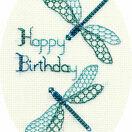 Dragonfly Birthday Cross Stitch Card Kit additional 1