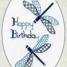 Dragonfly Birthday Cross Stitch Card Kit additional 2