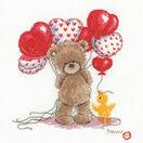 Popcorn Bear - Lovely Balloons Cross Stitch Kit additional 1