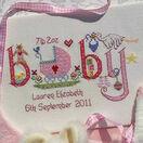 Baby Girl Birth Sampler Cross Stitch Kit additional 2