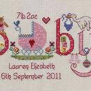 Baby Girl Birth Sampler Cross Stitch Kit additional 1