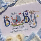 Baby Boy Birth Sampler Cross Stitch Kit additional 2