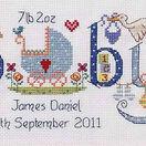 Baby Boy Birth Sampler Cross Stitch Kit additional 1