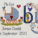 Baby Boy Birth Sampler Cross Stitch Kit additional 4
