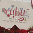 Ruby Wedding Anniversary Word Sampler Cross Stitch Kit additional 3