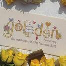 Golden Wedding Anniversary Word Sampler Cross Stitch Kit additional 2