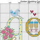 Golden Wedding Anniversary Word Sampler Cross Stitch Kit additional 5