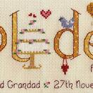 Golden Wedding Anniversary Word Sampler Cross Stitch Kit additional 4