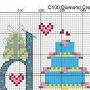 Diamond Wedding Anniversary Word Cross Stitch Sampler Kit additional 5