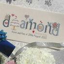 Diamond Wedding Anniversary Word Cross Stitch Sampler Kit additional 2