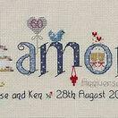 Diamond Wedding Anniversary Word Cross Stitch Sampler Kit additional 4