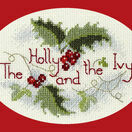 The Holly & The Ivy Christmas Cross Stitch Card Kit additional 1