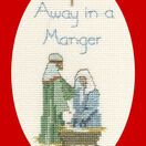 Away In A Manger Christmas Cross Stitch Card Kit additional 1