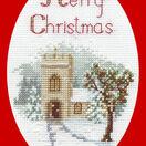 The Church Christmas Card Cross Stitch Kit additional 1
