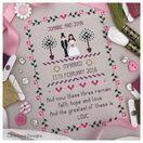 Faith, Hope, Love Wedding Sampler Cross Stitch Kit additional 2