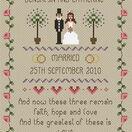 Faith, Hope, Love Wedding Sampler Cross Stitch Kit additional 1