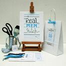 Real Men Cross Stitch Kit additional 2